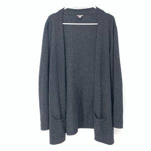 J. Jill Silk Blend Grey Long Tunic Sweater Sz XL